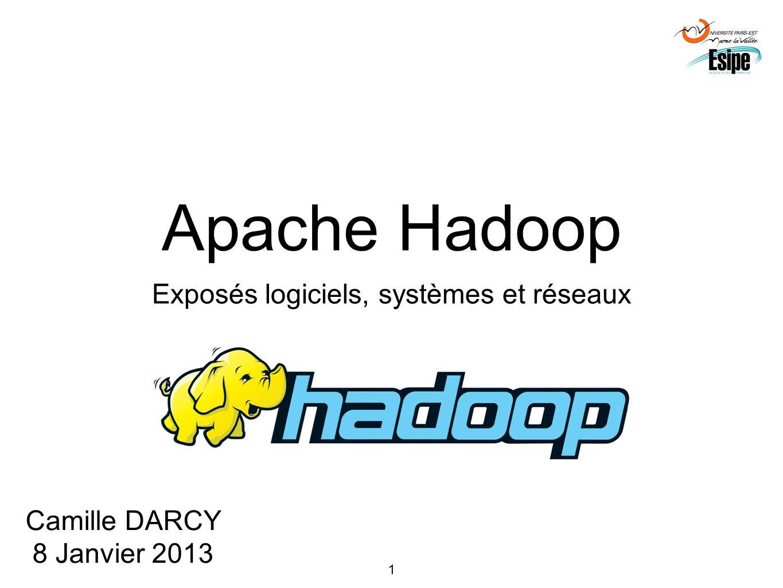 1 Apache Hadoop Exposés logiciels, systèmes et réseaux Camille DARCY 8 Janvier 2013