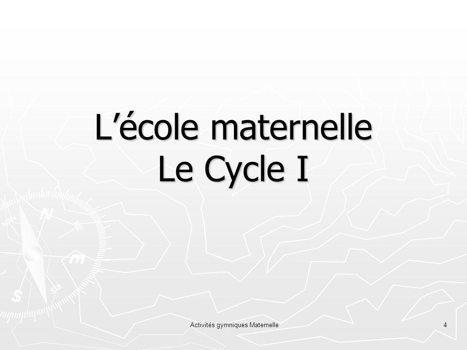 Activités gymniques Maternelle4 Lécole maternelle Le Cycle I