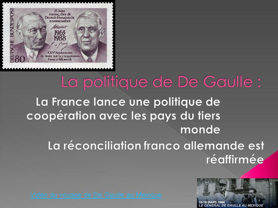 Vidéo du voyage de De Gaulle au Mexique