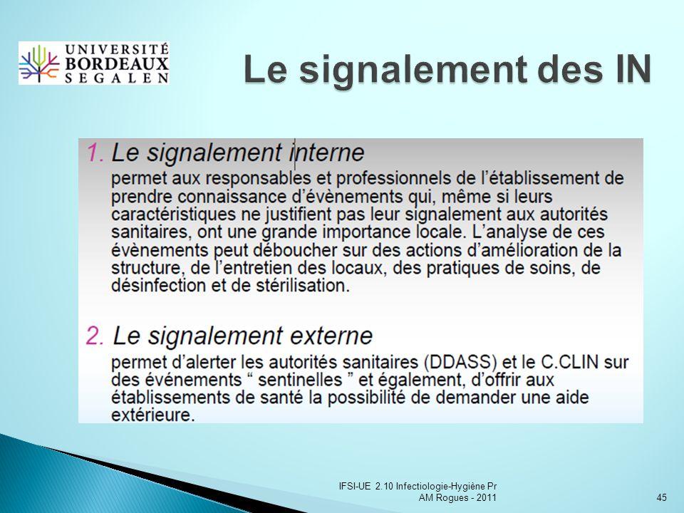 IFSI-UE 2.10 Infectiologie-Hygiène Pr AM Rogues - 201145