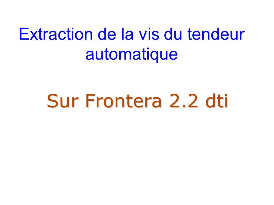 Extraction de la vis du tendeur automatique Sur Frontera 2.2 dti
