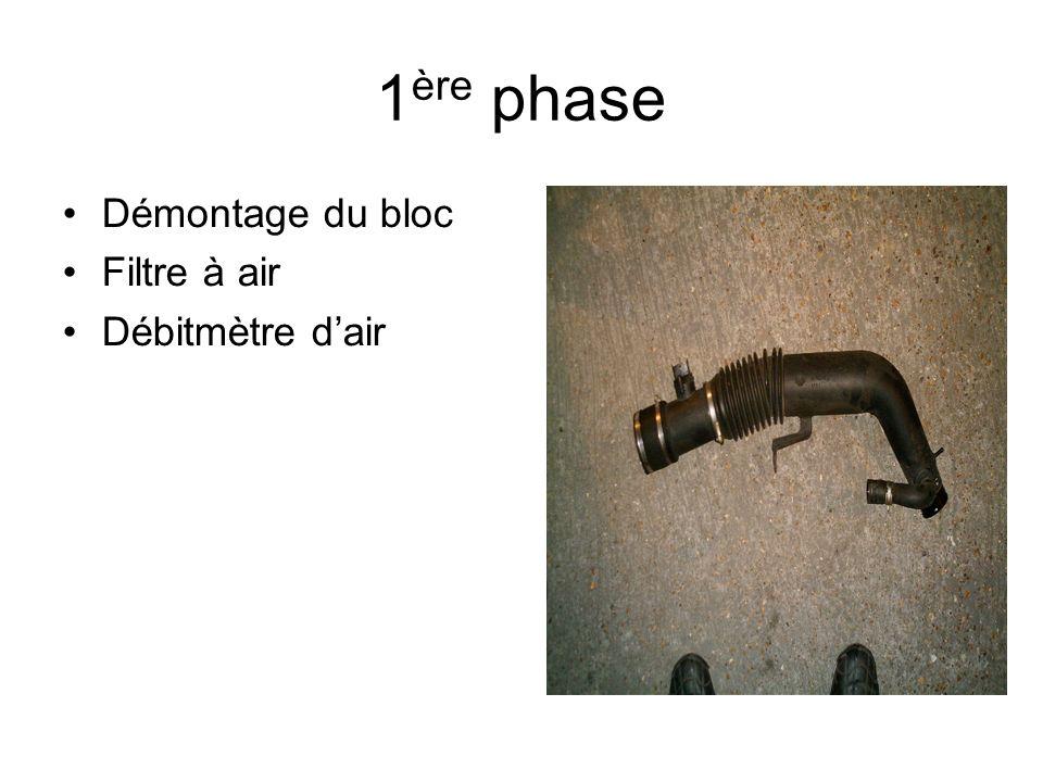 1 ère phase Démontage du bloc Filtre à air Débitmètre dair