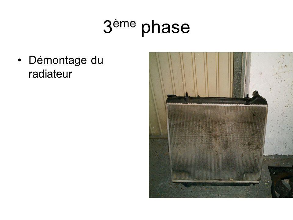 3 ème phase Démontage du radiateur