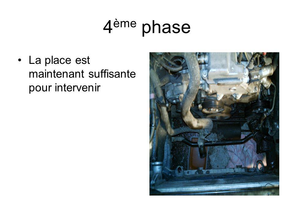 Extraction terminée Remontage dun tendeur neuf Ne pas oublier de mettre une courroie neuve de préférence remise en eau et purge du circuit.
