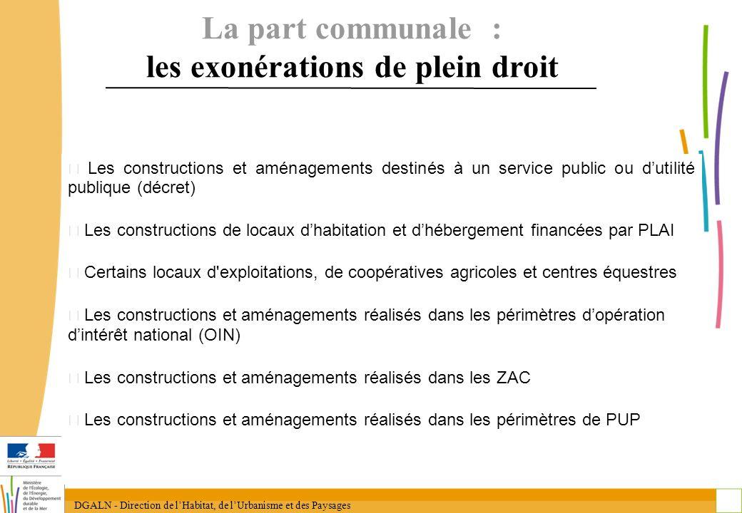 DGALN - Direction de lHabitat, de lUrbanisme et des Paysages 18 Les constructions et aménagements destinés à un service public ou dutilité publique (d