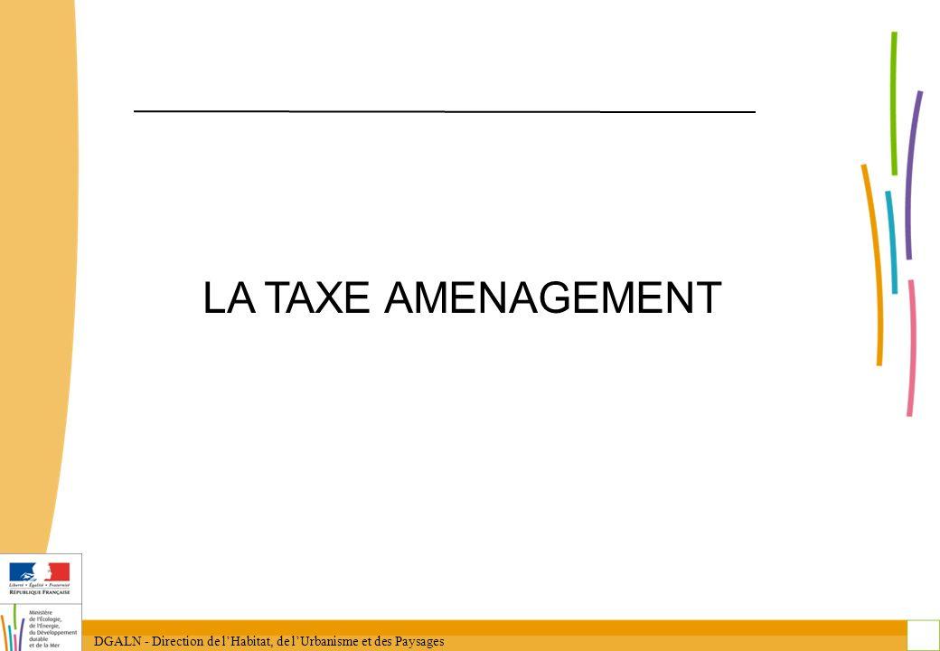 DGALN - Direction de lHabitat, de lUrbanisme et des Paysages 9 La taxe daménagement et les taxes existantes Dès la mise en place de la TA, quels changements pour les taxes .
