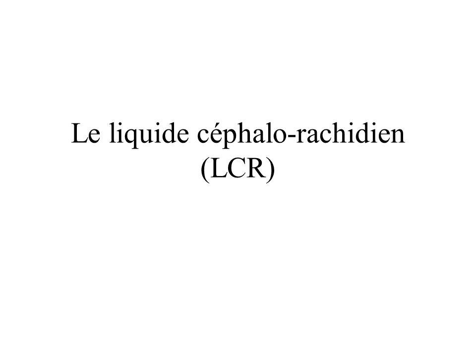 Le liquide céphalo-rachidien (LCR)
