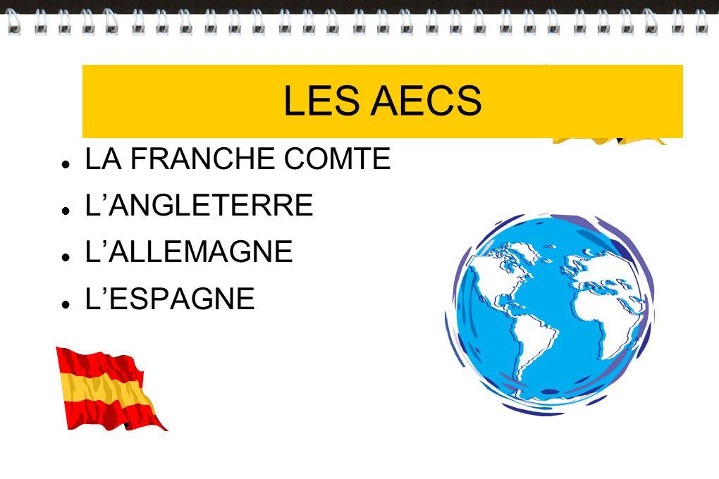 Les AECS LA FRANCHE COMTE LANGLETERRE LALLEMAGNE LESPAGNE LES AECS