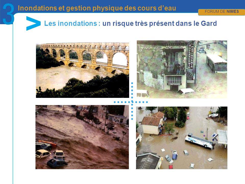 CRÉDIT PHOTOS en attente… FORUM DE NIMES Inondations et gestion physique des cours deau FORUM DE NIMES Les inondations : un risque très présent dans le Gard