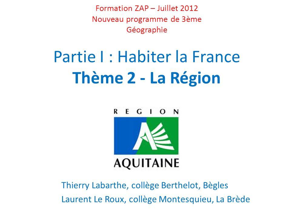 LAquitaine, une région de lArc Atlantique