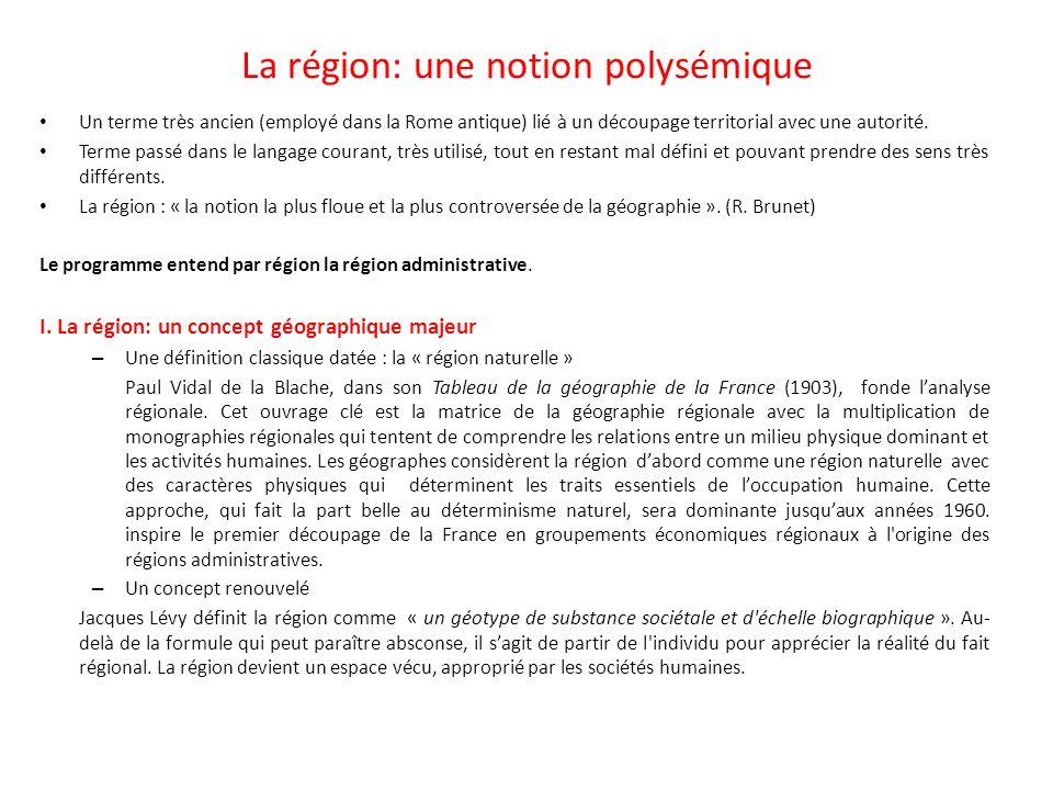 II.La région administrative.