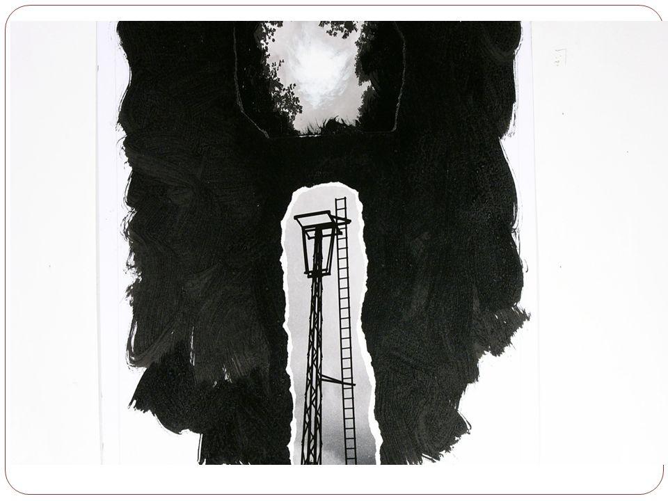 -« Un arbre beau à voir…mais il y a une barrière…entre nous et…en dessous…ces casiers noirs, tristes, vides…comme ma tête.