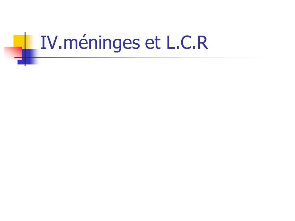 IV.méninges et L.C.R