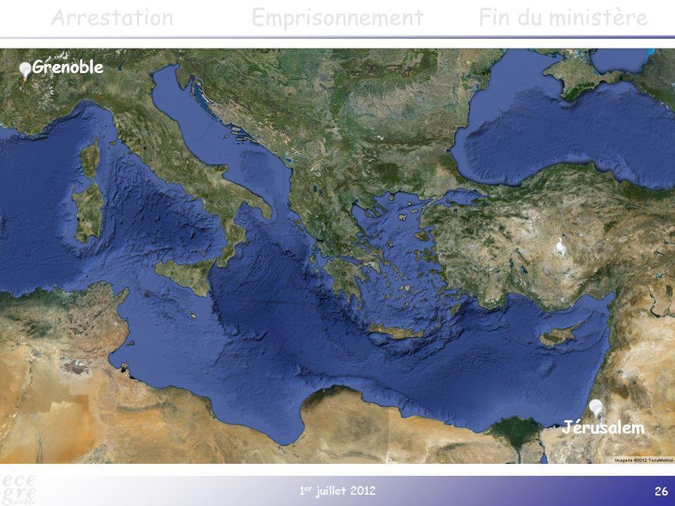 1 er juillet 2012 26 Cularo Paphos Salamine Jérusalem Antioche Damas Tarse Derbé Lystres Iconium Antioche de Psidie Gratianopolis (à partir de 381) Ep