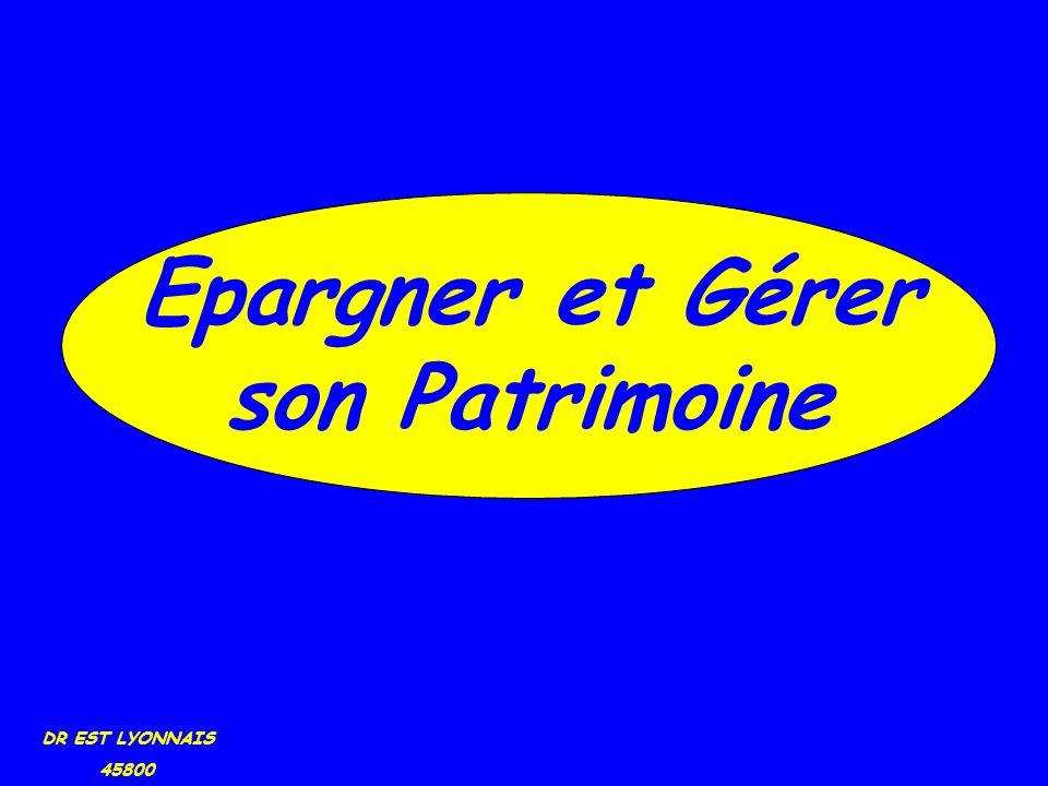 DR EST LYONNAIS 45800 Epargner et Gérer son Patrimoine