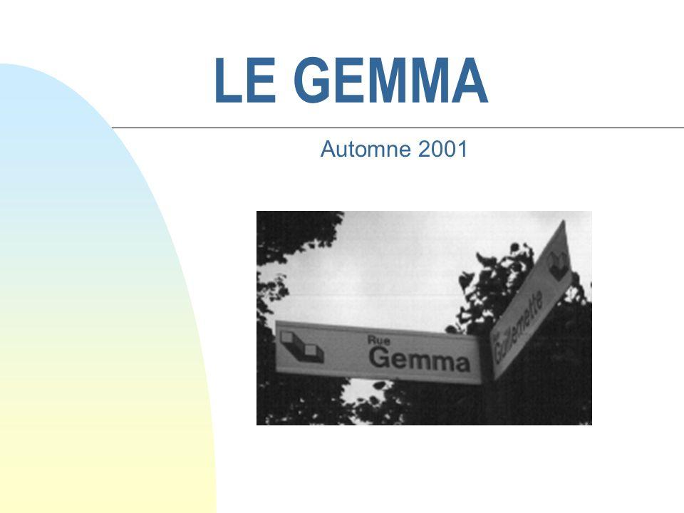 LE GEMMA Automne 2001