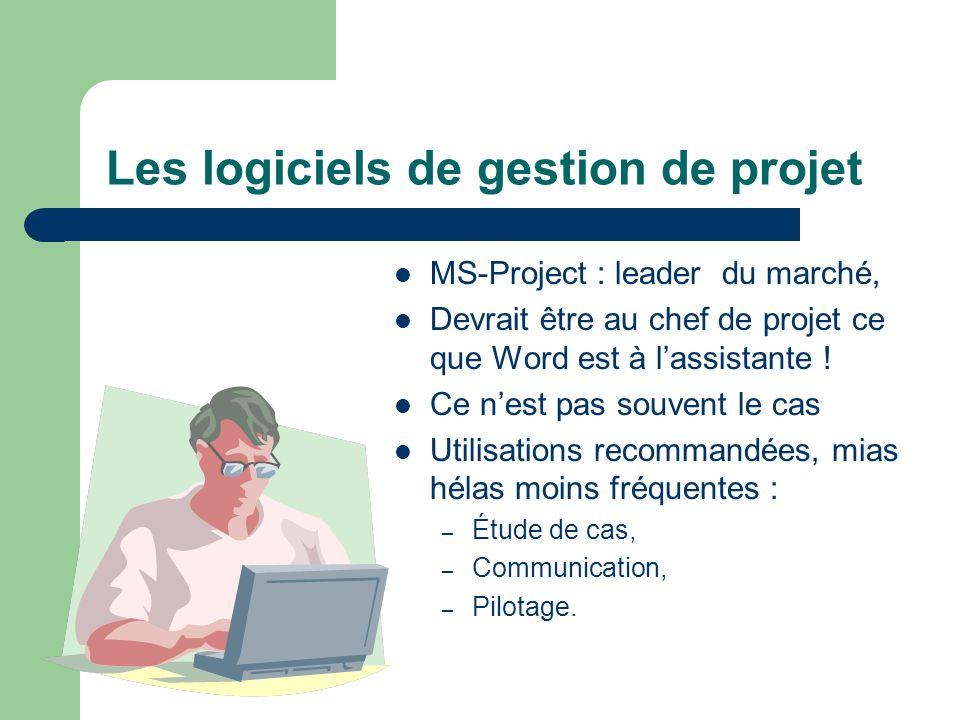 Les logiciels de gestion de projet MS-Project : leader du marché, Devrait être au chef de projet ce que Word est à lassistante ! Ce nest pas souvent l
