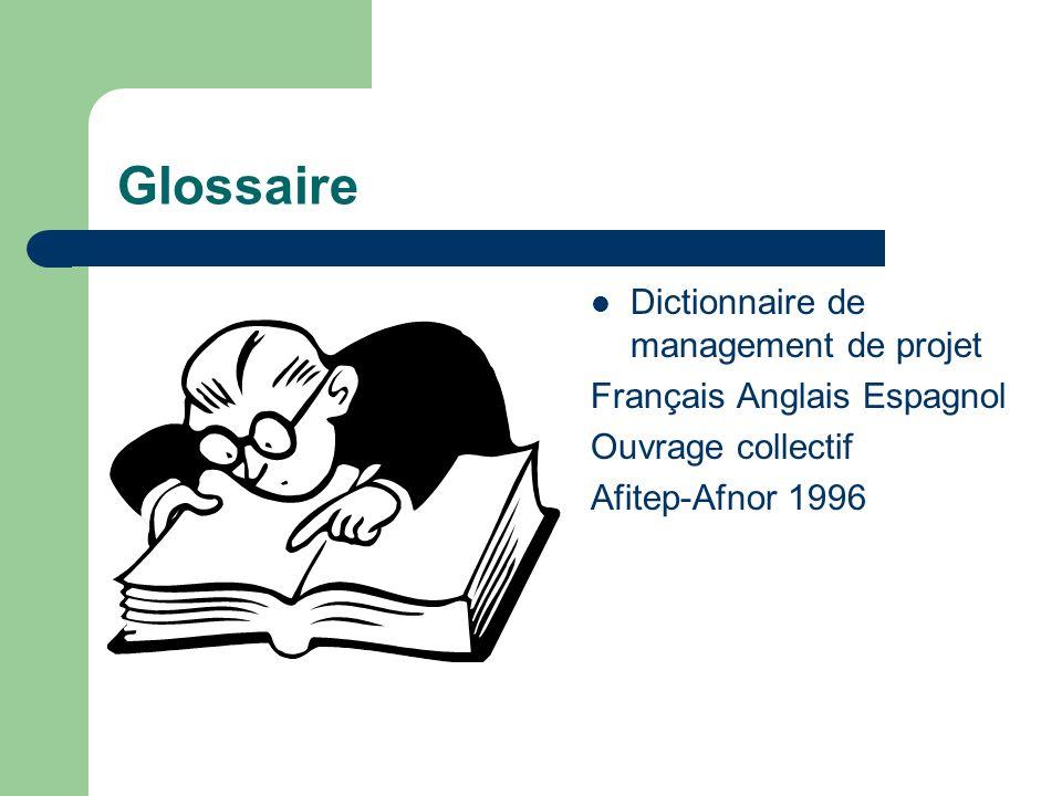 Glossaire Dictionnaire de management de projet Français Anglais Espagnol Ouvrage collectif Afitep-Afnor 1996
