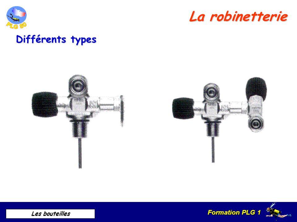 Formation PLG 1 Les bouteilles La robinetterie Différents types