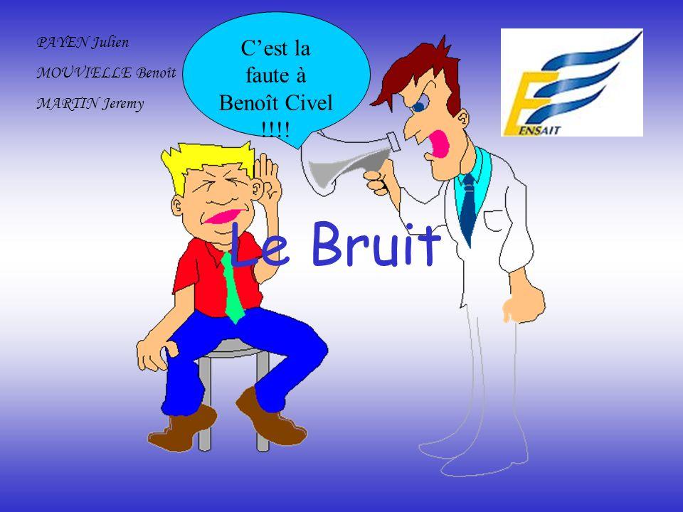 Le Bruit PAYEN Julien MOUVIELLE Benoît MARTIN Jeremy Cest la faute à Benoît Civel !!!!