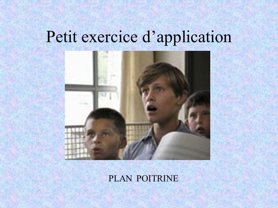 Petit exercice dapplication PLAN POITRINE