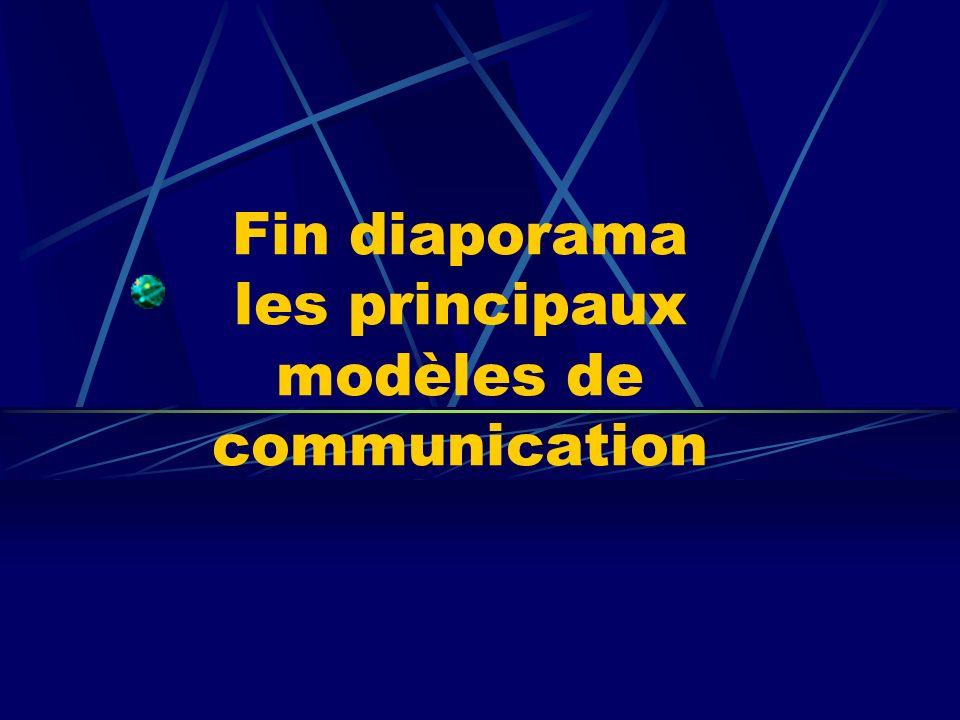 Fin diaporama les principaux modèles de communication