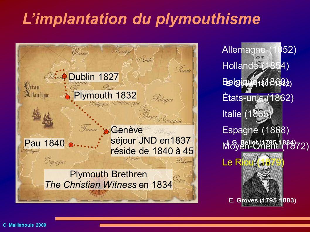 C. Maillebouis 2009 Dublin 1827 E. Cronin (1801-1882) J. G. Bellet (1795-1884) E. Groves (1795-1883) Genève séjour JND en1837 réside de 1840 à 45 Pau