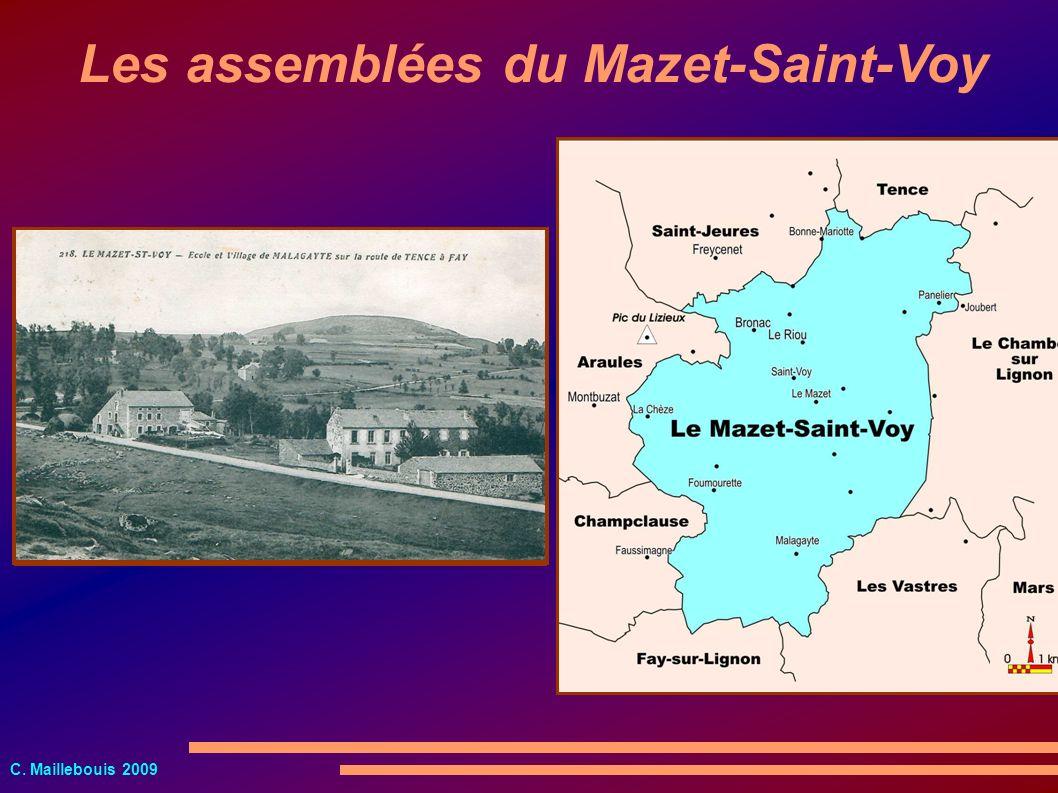 C. Maillebouis 2009 Les assemblées du Mazet-Saint-Voy