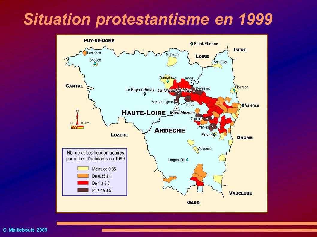 C. Maillebouis 2009 Situation protestantisme en 1999