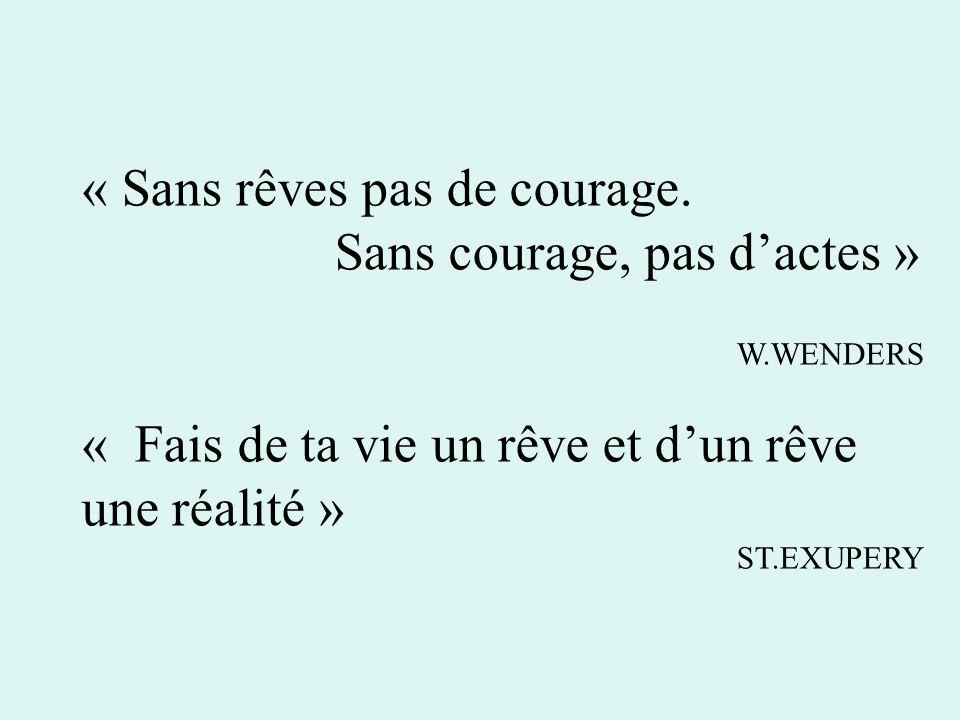 « Sans rêves pas de courage.