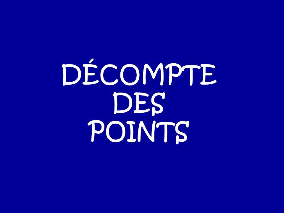 DÉCOMPTE DES POINTS