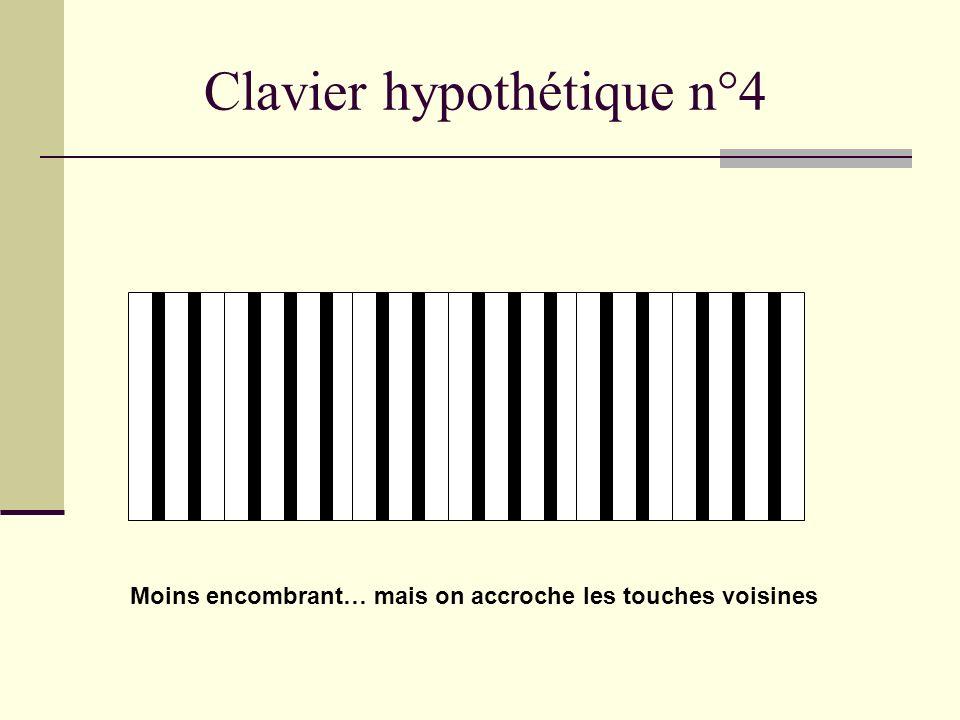 Clavier hypothétique n°3 développé Les octaves se repèrent facilement, mais cest encombrant…