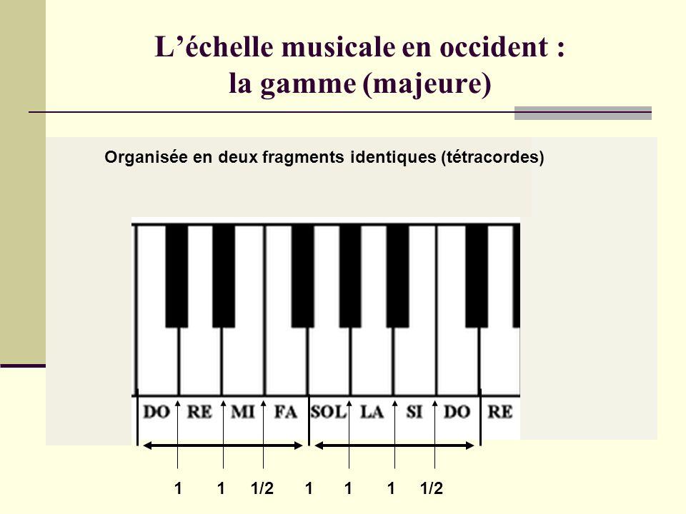 Les intervalles : résumé Tierce : 4 demi-tons Quinte : 7 demi-tons Octave : 12 demi-tons Chantées simultanément = accord Chantées successivement = arp