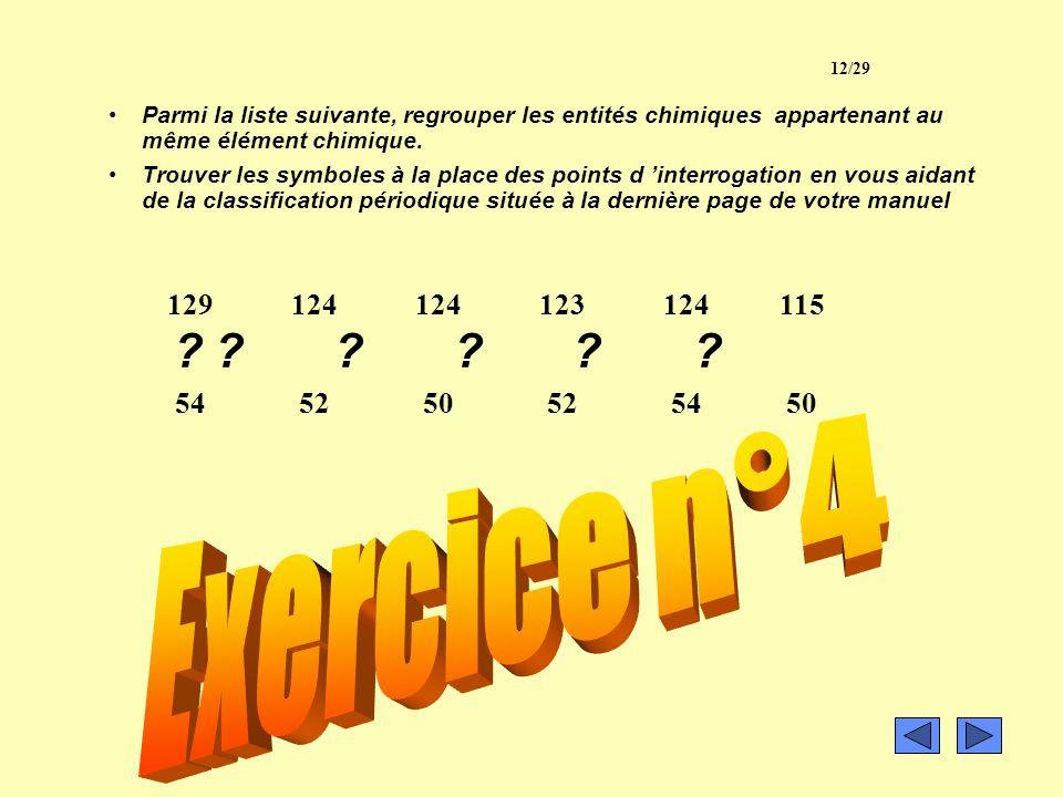 c) Définition de lélément chimique On donne le nom délément chimique à l ensemble des entités chimiques (atomes, isotopes, ions) ayant le même numéro