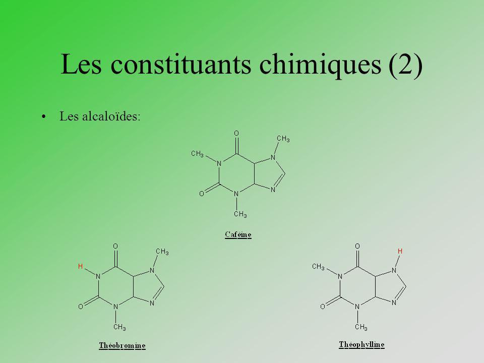 Les constituants chimiques (2) Les alcaloïdes: