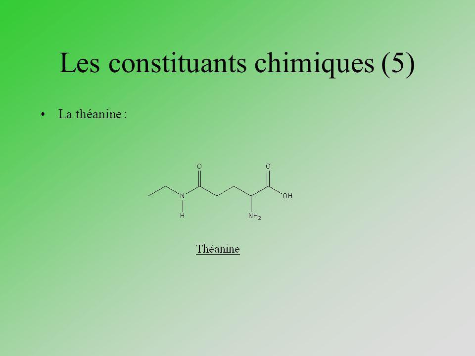 Les constituants chimiques (5) La théanine :