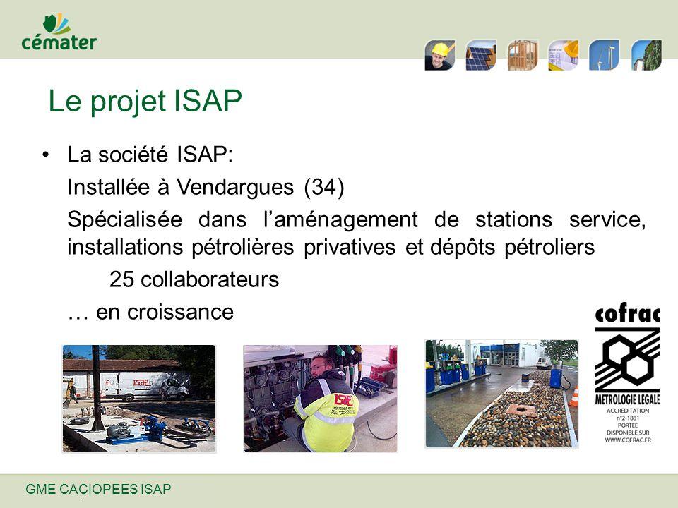 Nom de ma présentation | 31/12/2013 Le projet ISAP La société ISAP: Installée à Vendargues (34) Spécialisée dans laménagement de stations service, ins