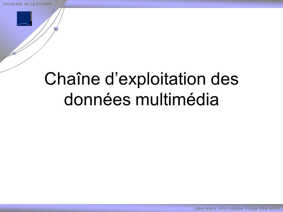 Université de La Rochelle Laboratoire Informatique Image Interaction Chaîne dexploitation des données multimédia