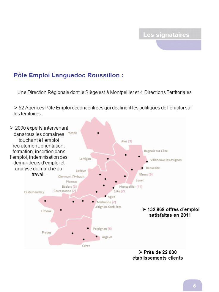 Pôle Emploi Languedoc Roussillon : Une Direction Régionale dont le Siège est à Montpellier et 4 Directions Territoriales 52 Agences Pôle Emploi déconc