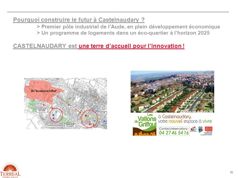 10 Pourquoi construire le futur à Castelnaudary ? > Premier pôle industriel de lAude, en plein développement économique > Un programme de logements da
