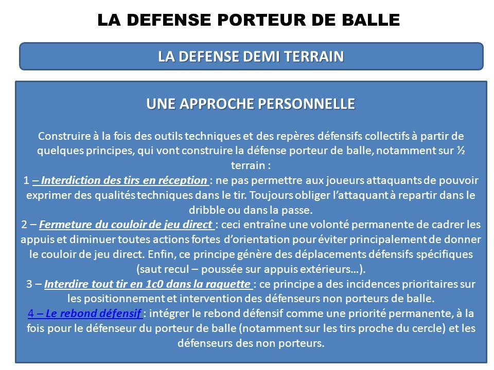 POUSSINS BENJAMINS MINIMESCADETSSENIORS Volonté de récupérer la balle Encourager le plaisir de défendre sur le plan pédagogique Défense tout terrain à encourager.
