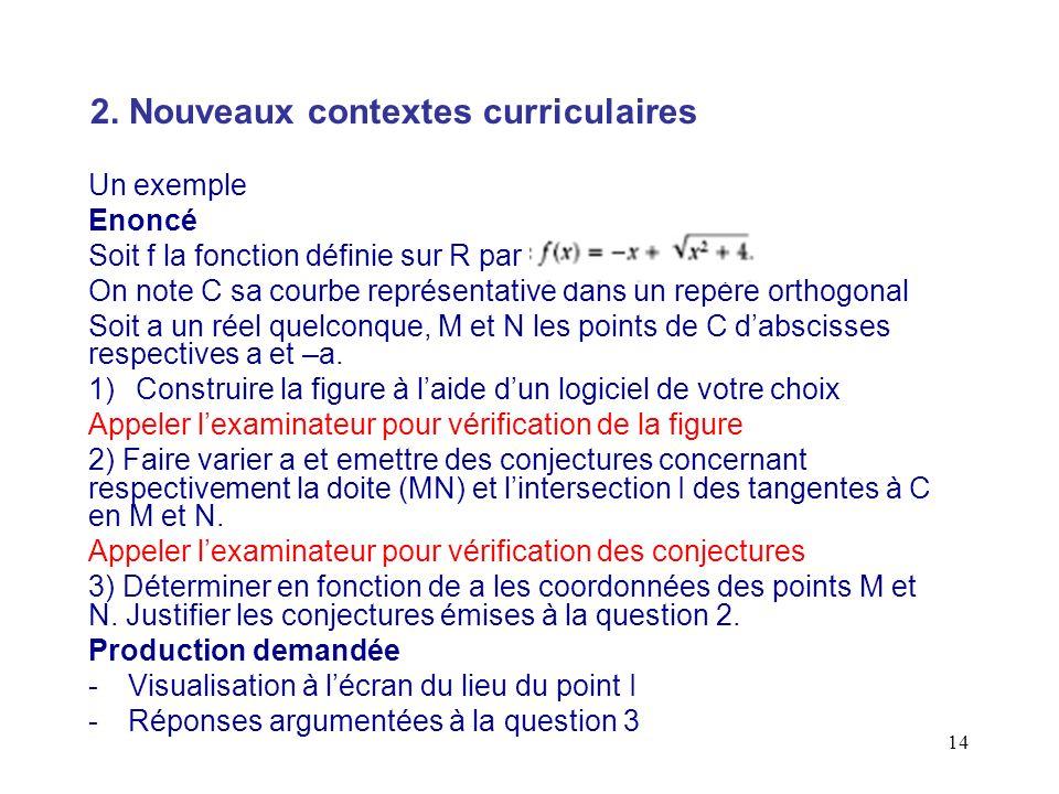 14 Un exemple Enoncé Soit f la fonction définie sur R par On note C sa courbe représentative dans un repère orthogonal Soit a un réel quelconque, M et
