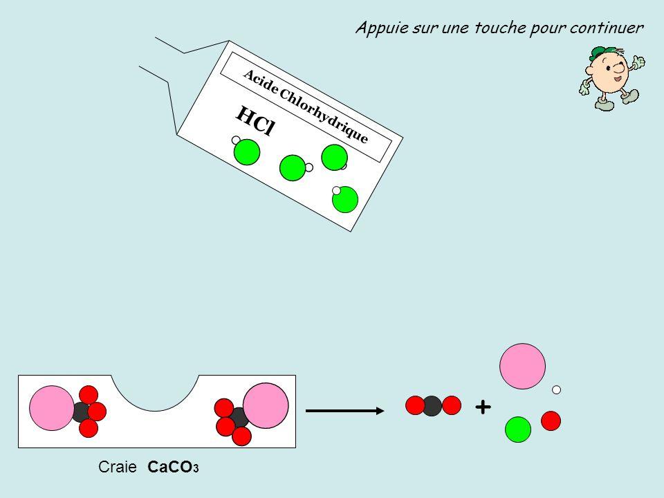 Acide Chlorhydrique HCl Craie CaCO 3 Appuie sur une touche pour continuer