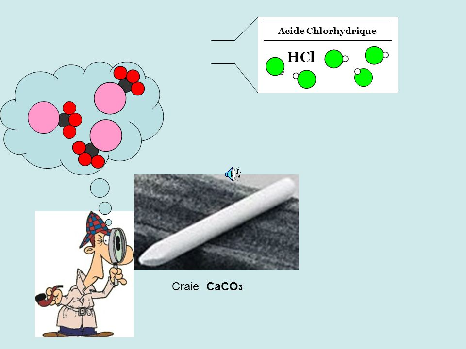 Acide Chlorhydrique HCl Craie CaCO 3