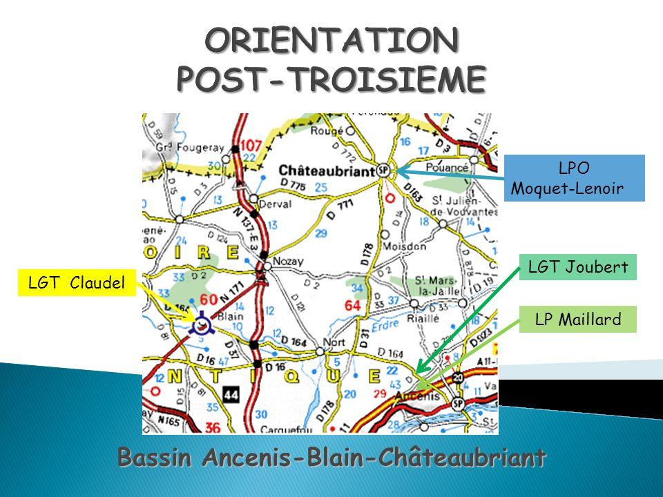Bassin Ancenis-Blain-Châteaubriant LGT Claudel LGT Joubert LPO Moquet-Lenoir LP Maillard