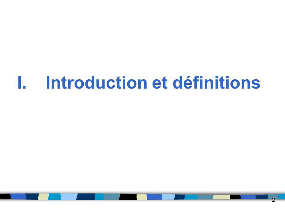 2 I.Introduction et définitions