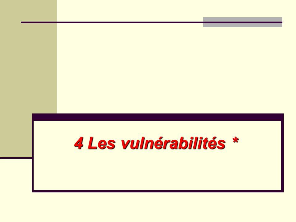 4 Les vulnérabilités *