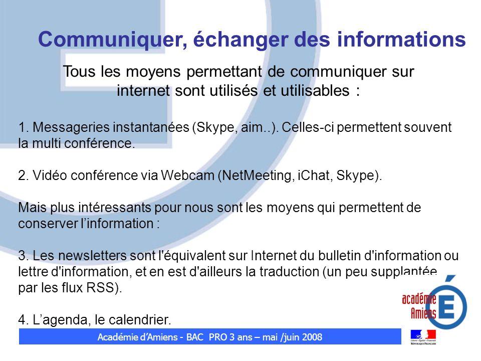 Tous les moyens permettant de communiquer sur internet sont utilisés et utilisables : 1. Messageries instantanées (Skype, aim..). Celles-ci permettent