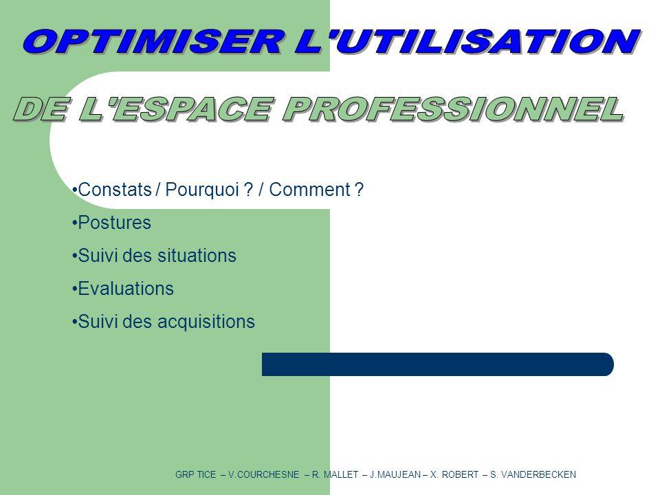 Constats / Pourquoi . / Comment .