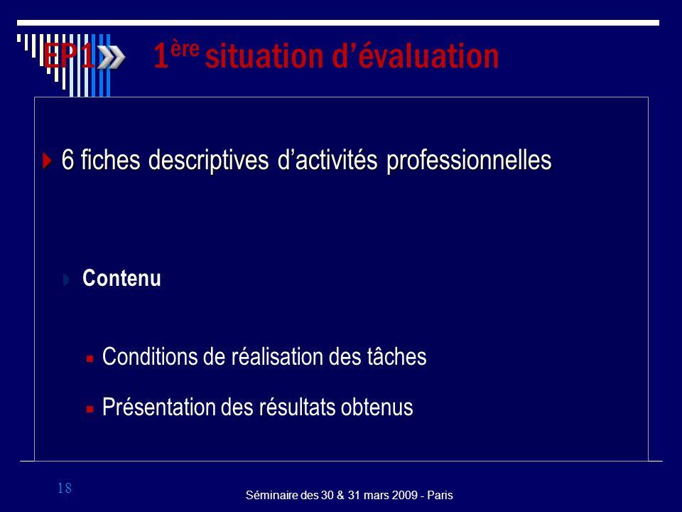 6 fiches descriptives dactivités professionnelles 6 fiches descriptives dactivités professionnelles Contenu Conditions de réalisation des tâches Prése